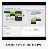 Html5 Menu Maker change font of rsform pro