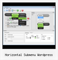 Css Button Effects horizontal submenu wordpress
