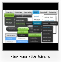 Pure Css Buttons Mootools nice menu with submenu