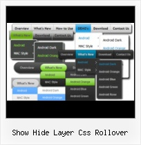 Visual Studio Css3 show hide layer css rollover