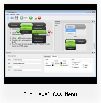 Css Button Builder two level css menu