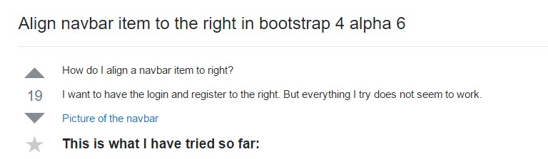 Adjust navbar  thing to the right  within Bootstrap 4 alpha 6