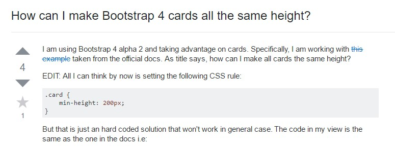 Insights on  just how can we form Bootstrap 4 cards  all the same  height?