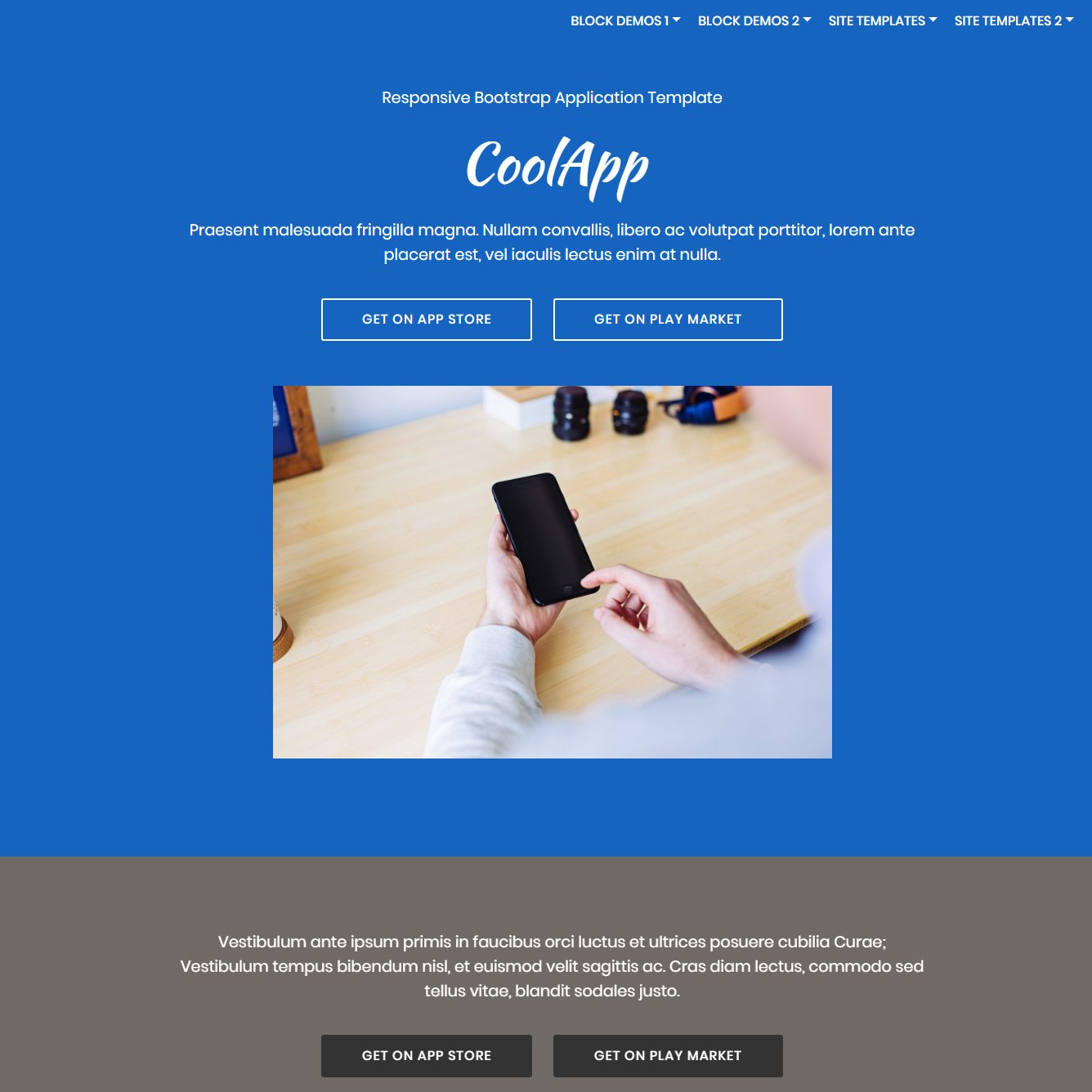 CSS3 Bootstrap Application Themes