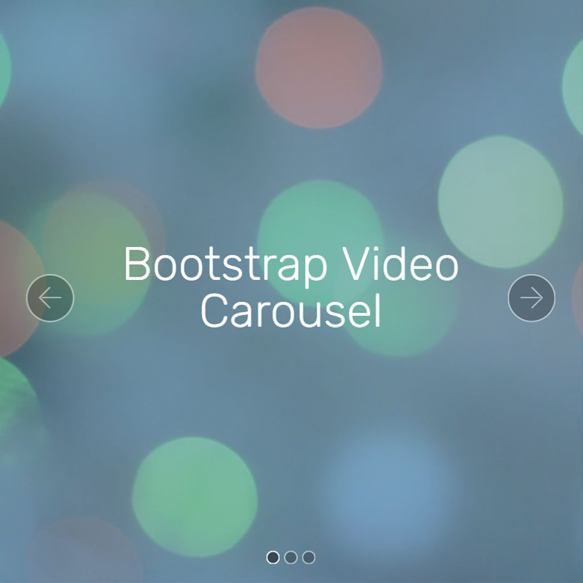Responsive Bootstrap Picture Slideshow