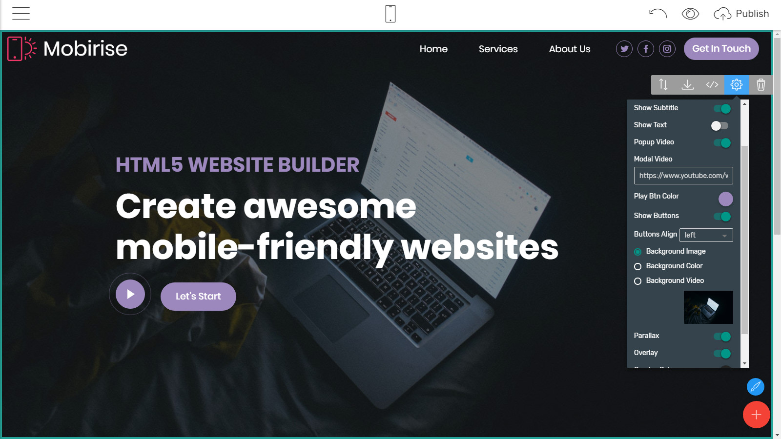 mobile-friendly webpage themes
