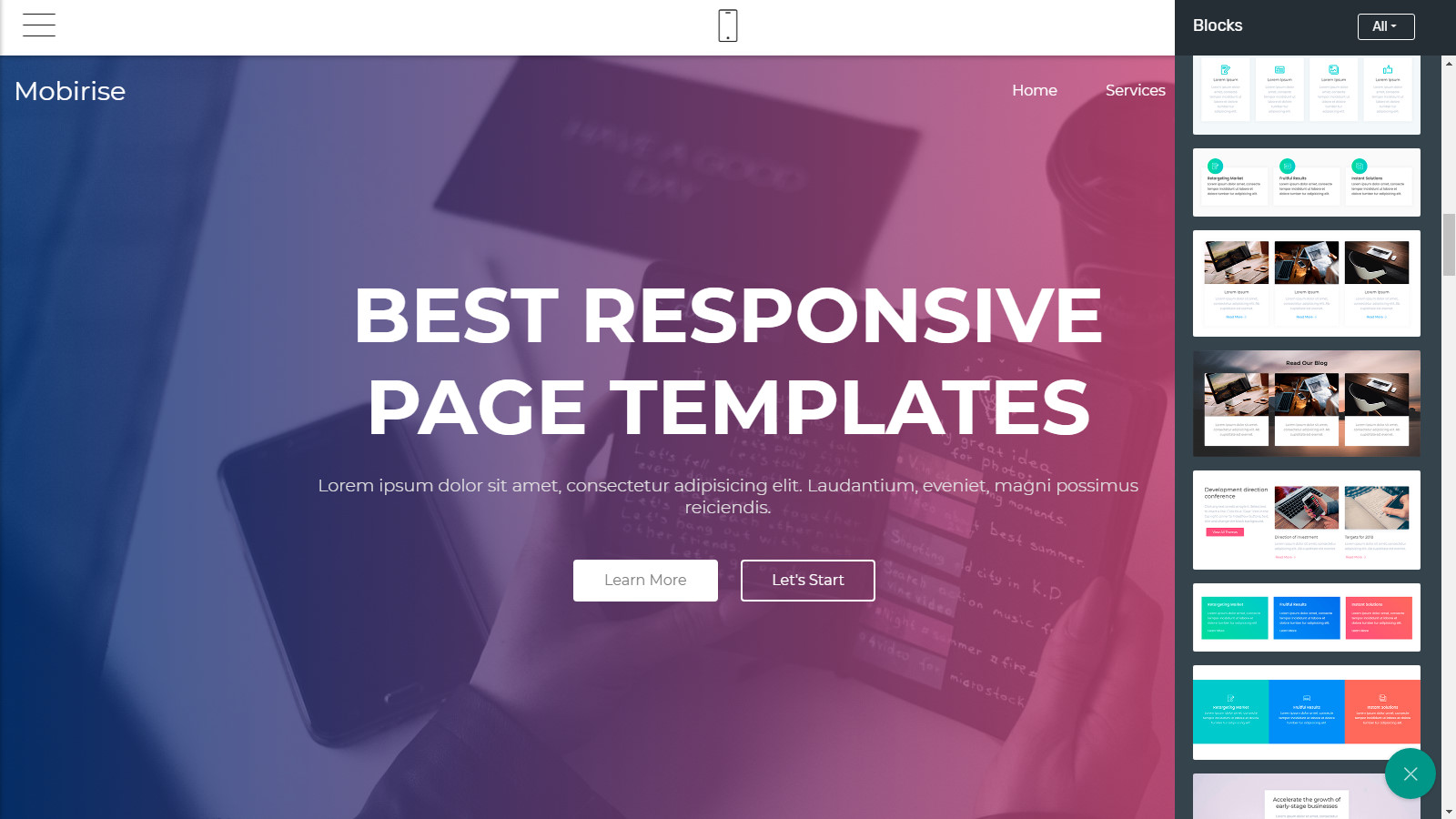 responsive site themes