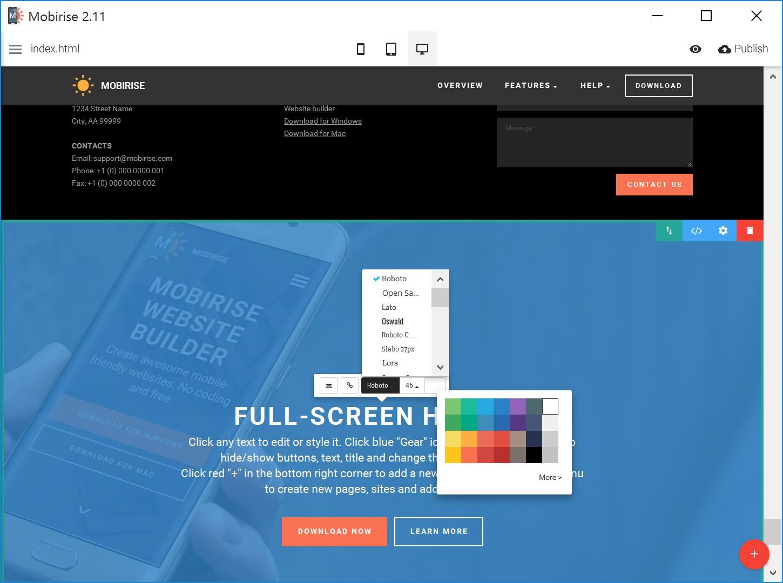 Quick HTML Web Page  Creator