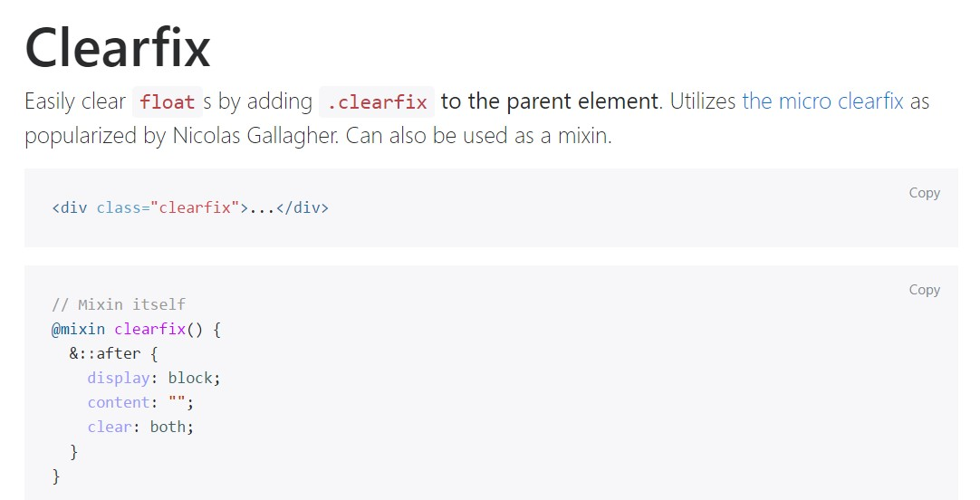 Bootstrap clearfix  approved  documents