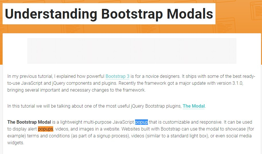 Another  valuable  post  regarding Bootstrap Modal Popup