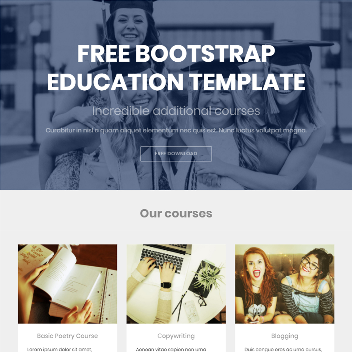 Responsive Bootstrap Education Templates