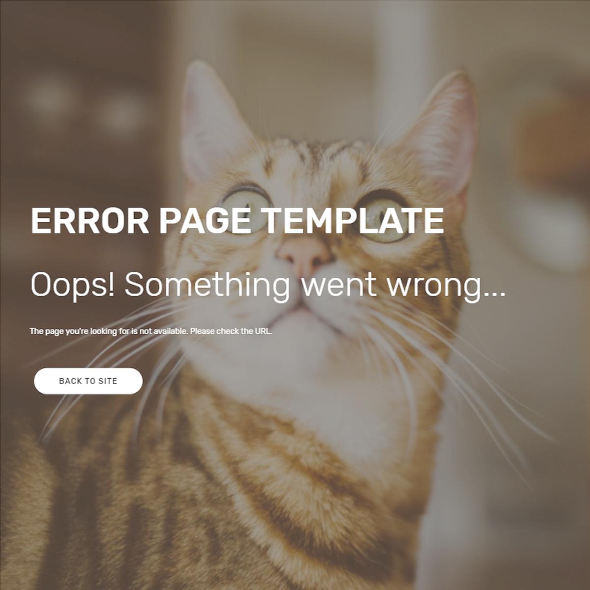 HTML5 Bootstrap Error Themes